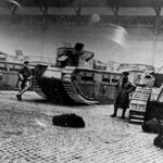These are the tanks Winston Churchill sent to Glasgow to smash people striking for humane working conditions. http://t.co/9UUMQXD4IT