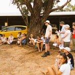 @ScienceUWA #uwa #wun summer school Our students enjoying a talk from Lyn Abbott at the UWA Farm http://t.co/iOBhtOwic5