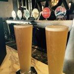 Enjoying #feralwhite @aquabar @luckyshag #perth #drinkfreshdrinklocal http://t.co/Qr6traok1Z http://t.co/YMEqwIND3w