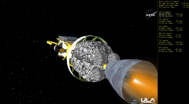 #NASAJPL #DeltaII #SMAP - Good burn on second stage http://t.co/V8dmUbjuec