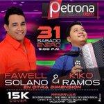 [VALLEDUPAR] HOY HOY HOY en @PetronaDisco estarán @fawelsolano & @KikoRamosL NO FALTES!! Org: @ChepePerezR http://t.co/Eab1RMTnL8