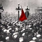 The red flag went up in George square this day in 1919.the workers showed their strength.churchill showed his tanks http://t.co/aVWbTDrzhB