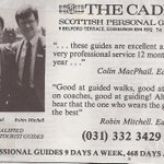 Its from the ARCHIVES. Its from 1985. Its when we had 9 days in a week. What else can you say. #Cadies #Edinburgh http://t.co/78ep5oVBHD