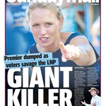 Tomorrows first edition front page. #qldvotes @katejonesqld http://t.co/gYYSEA7c8S