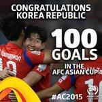 先程のゴールで韓国は @afcasiancup 通算100得点! 韓国 1-1 オーストラリア #ACFinal #AC2015 http://t.co/LKaXHPOsUS