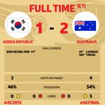 試合終了!!!! 韓国 1-2 オーストラリア #ACFinal #AC2015 http://t.co/ucbXo6SnMg