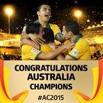 #AC2015 優勝はオーストラリア!!!!!!! 韓国 1-2 オーストラリア #ACFinal http://t.co/kE0wERPKKE
