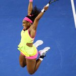 Fly Like #Serena! What a celebration @SerenaWilliams! Congrats to our World No.1--> http://t.co/KcXZ3hx2oJ #AusOpen http://t.co/CTDWCUEUBm