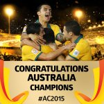 Congratulations @Socceroos on winning #AC2015!! http://t.co/4dfLh4YZ77