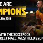 Celebrate with Socceroos tomorrow in Sydney! 10am PITT STREET MALL, @westfieldsyd #GoSocceroos #AsianChampions http://t.co/Ja3X5Cxedk