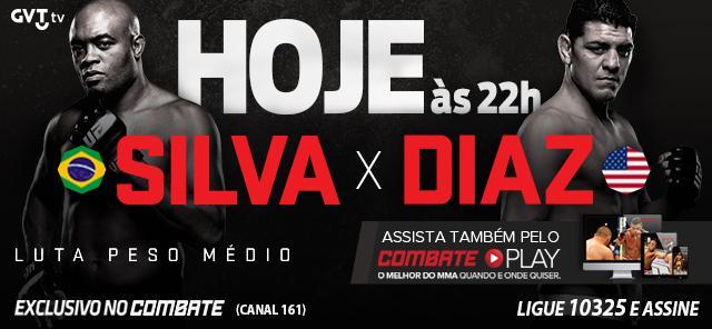 Hoje tem #UFC183 - @SpiderAnderson x @nickdiaz209 AO VIVO e exclusivo pra assinante do @CanalCombate. Não perca! http://t.co/t8SoVFONzD