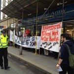 Protest for boycotting the mandatory work activity scheme AKA unpaid workers! #SalvationArmy #Edinburgh #LothianRoad http://t.co/MDCkK5LOY5