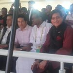 Enjoying @kerala2015 w/(L to R) Sports Minister Sarbananda Sonowal, @sachin_rt, Kerala SportsMinister T.Radhakrishnan http://t.co/c7m0vYlWoa
