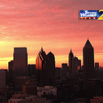 Wow! This is worth an updated share... getting even prettier is this mornings #ATL #Sunrise #Atlanta @wsbtv http://t.co/8IY3h3ySDy