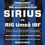 Inför sextondelsfinalen Sirius-RIG Umeå på tisdag. http://t.co/b2J7CErQH6 http://t.co/msArKzjgHx
