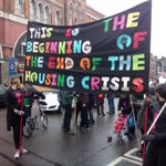 Preparing to set off fr/ Shoreditch on the #MarchForHomes, @FocusE15 up front! http://t.co/VG59no9zbe