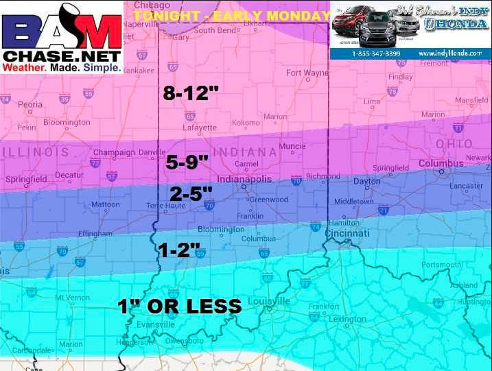 Here is our latest snowcast. We still believe up to a foot likely in northern counties. #INWX #INDY http://t.co/gshyBZn4Tk