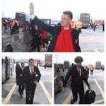 Louis van Gaal and his #mufc squad have arrived at the stadium. Look out for team news from 14:00 GMT. #mufclive http://t.co/nCpBTbza9g