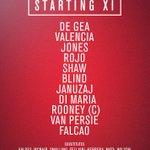 United XI: De Gea, Valencia, Jones, Rojo, Shaw, Blind, Januzaj, Di Maria, Rooney, van Persie, Falcao. #mufclive http://t.co/LeIxquG59x