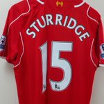 PHOTO: @D_Sturridges jersey hangs in the #LFC dressing room ahead of kick off http://t.co/57hUBNAghK