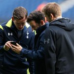 The lads share a joke upon arriving at the ground for todays game. #COYS http://t.co/EqNe0hzs7w