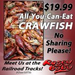 Come get your CRAWFISH, Starkville! The Mud Bugs are back!! All-You-Can-Eat only $19.99! #Over50TVs #Crawfish http://t.co/oYDOnVFLwD
