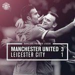 United naik ke peringkat 3 setelah mengalahkan Leicester 3-1. Penampilan yang solid & impresif, Congratulation, Lads http://t.co/WRO9JEULyj