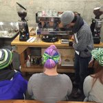 From yesterdays Blue Friday Advanced Espresso training in #Seattle with the amazing baristas from @_UCL. #gohawks. http://t.co/yOPGP0yPnX