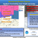"""#Winter Storm Warning north of #Indy (5-12""""), Winter Weather Advisory for Indy (3-5"""") and points E and W. #INwx http://t.co/iUzOxalkCW"""