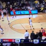 VIDEO: NC State's Trevor Lacey sunk Georgia Tech in OT with a buzzer-beater 3 http://t.co/hXdkBCFCV6 http://t.co/QwORv9x1Pm