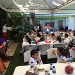 Continúan las dinámicas a cargo de @SECULTURASV en el encuentro ciudadano en la Residencia Presidencial http://t.co/HQSn8XKifk