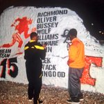 Seems @TheDream_75 & @K5_Phillips did a little painting together on the rock. Richmond added his initials: http://t.co/ta6ybrQ4NA