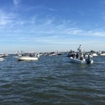 Insanity on the waters of Tampa Bay for @GasparTampa and the #PirateInvasion #WTSP http://t.co/GyB59ukRQ1