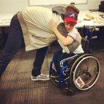 Zacharys wish was to hug @FreddieFreeman5. Wish granted! #BravesCaravan http://t.co/4asXh0nOpy