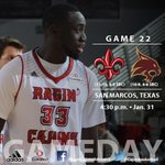 @Cajunbasketball goes for its sixth SBC win of the season today at 4:30 pm at Texas State. #GeauxCajuns http://t.co/aZpmaaIAFO