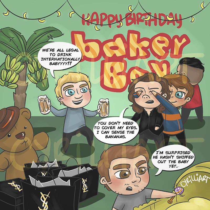 "Harry: \""did someONE SAY BABY?!??!!\"" Happy Birthday"