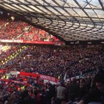 Leicester fans at Manchester United today. #LCFC. http://t.co/FTkv2rF6R8