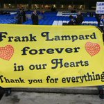 Banners at Stamford Bridge directed to Lampard. Brilliant by the @ChelseaFC fans. http://t.co/YkQyU6nLMo
