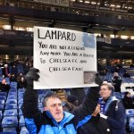 This Chelsea fan isnt pleased to see Frank Lampard back at Stamford Bridge. (Via @GChadwick_). http://t.co/Za6ln9FUl8