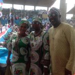 @dino_melaye @abikedabiri and Fathia Balogun at @APCNigeria rally in Kwara today. #GMBinKwara @Ayourb @NewsKwara http://t.co/VkyJWBPkCw