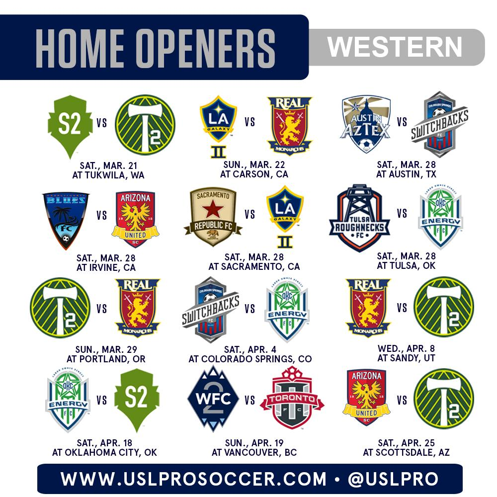 And the #USLPRO home openers in the West: http://t.co/TjMptJmqoO