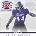 Good luck to Chi Chi Ariguzo in the College Gridiron Showcase today! #B1GCats http://t.co/0z9E4m7MYw