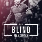 Congratulations to @BlindDaley who has been voted #mufc's Man of the Match against @OfficialFoxes. http://t.co/65NGTmdkVI