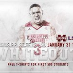 One hour til tip. MSU vs. LSU. See you at the Hump. #HailState http://t.co/UUMNww3V8C