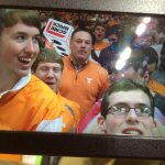 Halftime update on the Vols: Tennessee leads Auburn 33 -29. Butch Jones is hanging out in the student section. http://t.co/H3SxblbGxQ