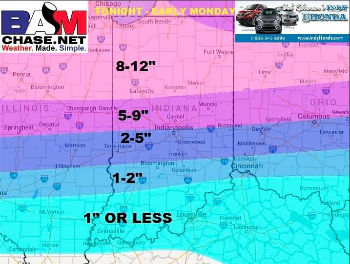 "After everything this is our snowcast and we are sticking with it. Some places north may exceed 12""! #INwx #INdy M. http://t.co/YYIiHB3IeG"