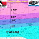 """After everything this is our snowcast and we are sticking with it. Some places north may exceed 12""""! #INwx #INdy M. http://t.co/YYIiHB3IeG"""