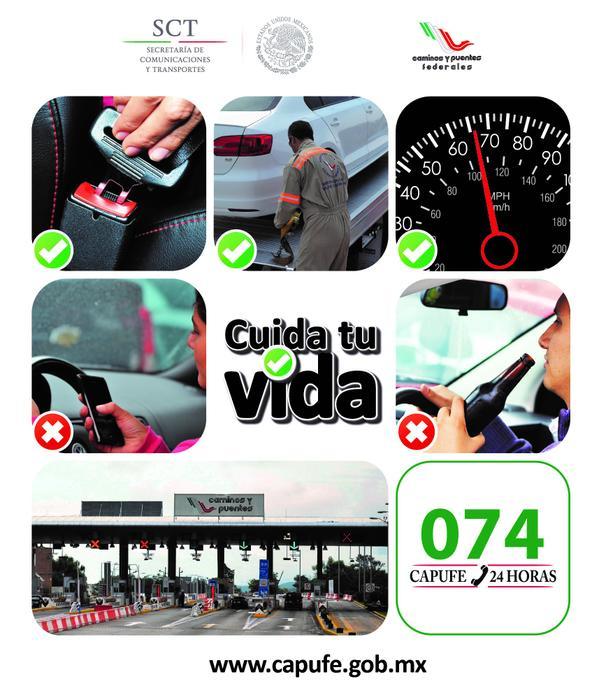 Utilices telefono celular carretera evita accidentes capufe - Caser asistencia en carretera telefono ...