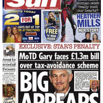 UPDATED Sun @GaryLineker Splash Backfires: story pulled from website but damage done by paper http://t.co/gZEEcqqCcA http://t.co/XsifSThojL