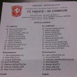 Opstellingen van beide elftallen op papier #TWECAM http://t.co/R1Eph6i8JV